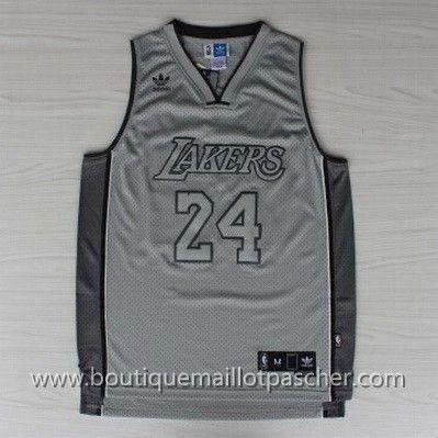 maillot nba pas cher Los Angeles Lakers Bryant #24 Tout Gris nouveaux tissu 22,99€