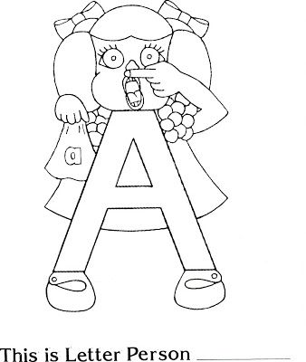 Letter People Coloring Pages Letter X Coloring Page Letter X ...