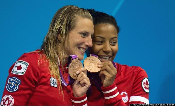 Canada's First Medal - Emilie Heymans and Jennifer Abel.