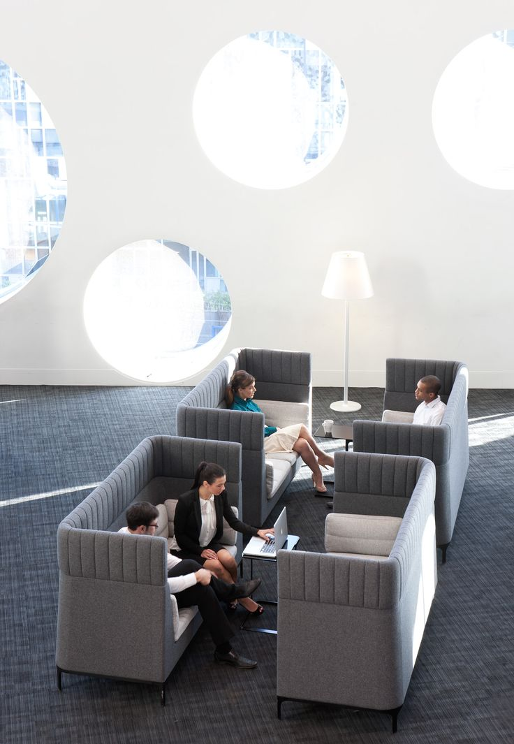 Creative Office Furniture These Acoustic Furniture Lounges Part Of The Haven Series Are Comfortable Chic And Creative Office N