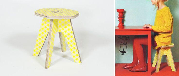 Taburete infantil the milk stool del studio delle alpi ideal para que los ni os se sientan en - Taburete ninos ...