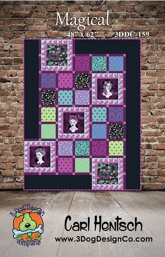 Magical Quilt Pattern featuring De La Luna by Tula Pink ...