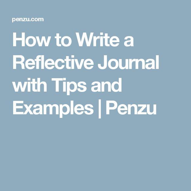 reflective journal summary essay