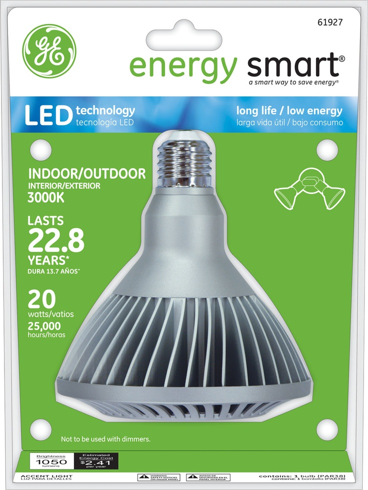 GE Energy Smart 75W Replacement (20W) PAR38 LED Bulb (Warm, Dim, Energy Star) $77.95