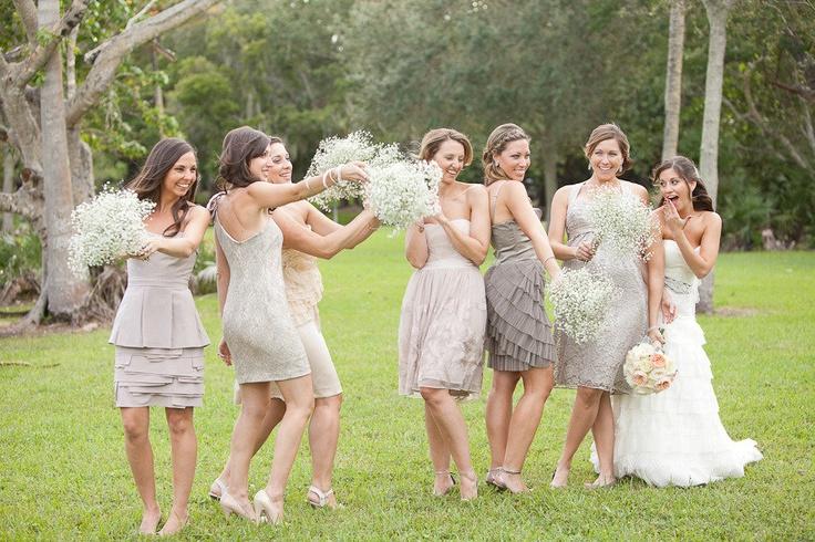 Really pretty bridesmaids dresses.