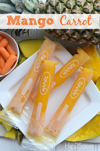 Homemade Otter Pops (Blueberry Coconut and Mango Carrot Recipes)