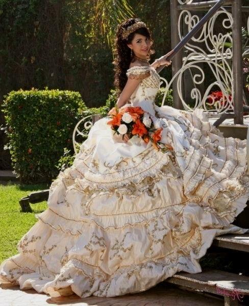 white charra quinceanera dresses Naf Dresses