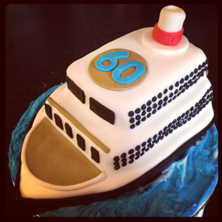 Cruise Ship Cake for 60th Birthday