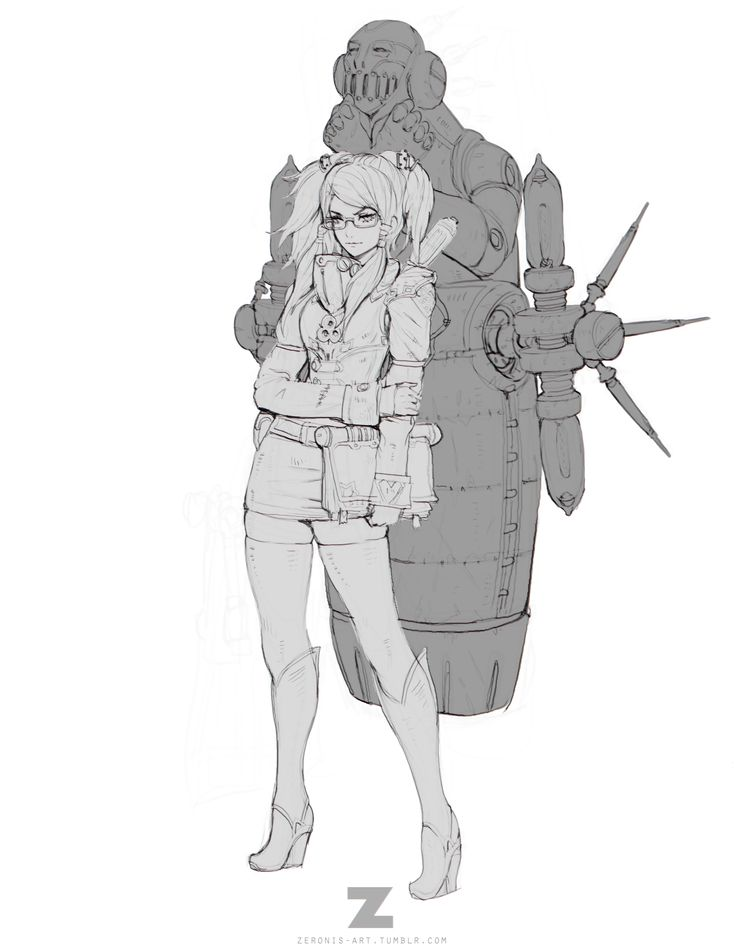 Character Design Gumroad : Art by paul kwon a k zeronis website https
