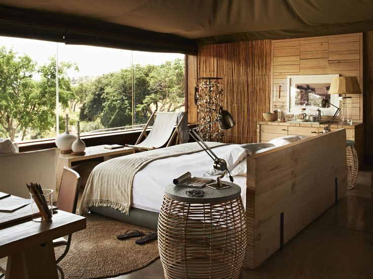 contemporary african style bedroom