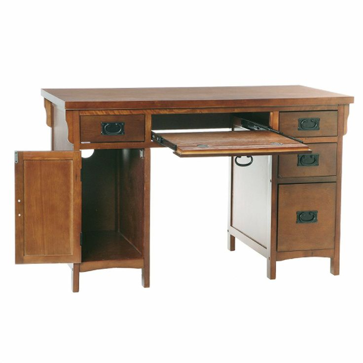 17 best images about home office on pinterest white office computer desk with hutch and drawers - Mission style computer desk with hutch ...