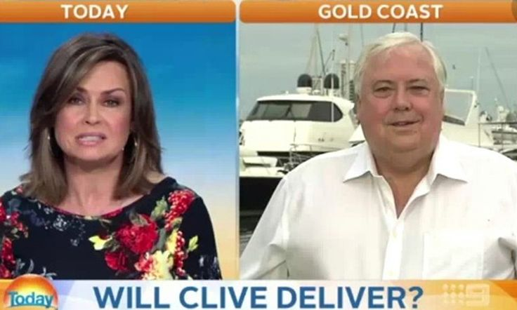Palmer becomes embroiled in spat with The Today Show host over his response to affairs of his Queensland Nickel business