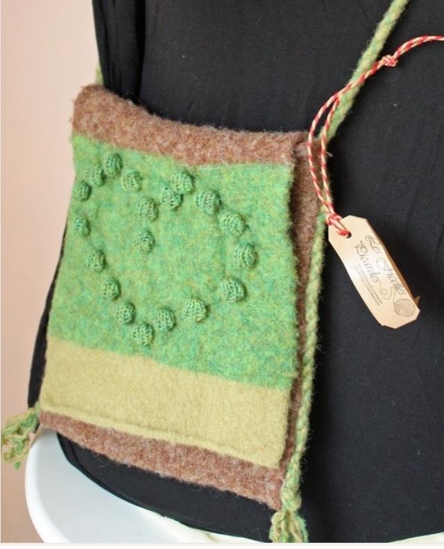 Sac en laine feutrée