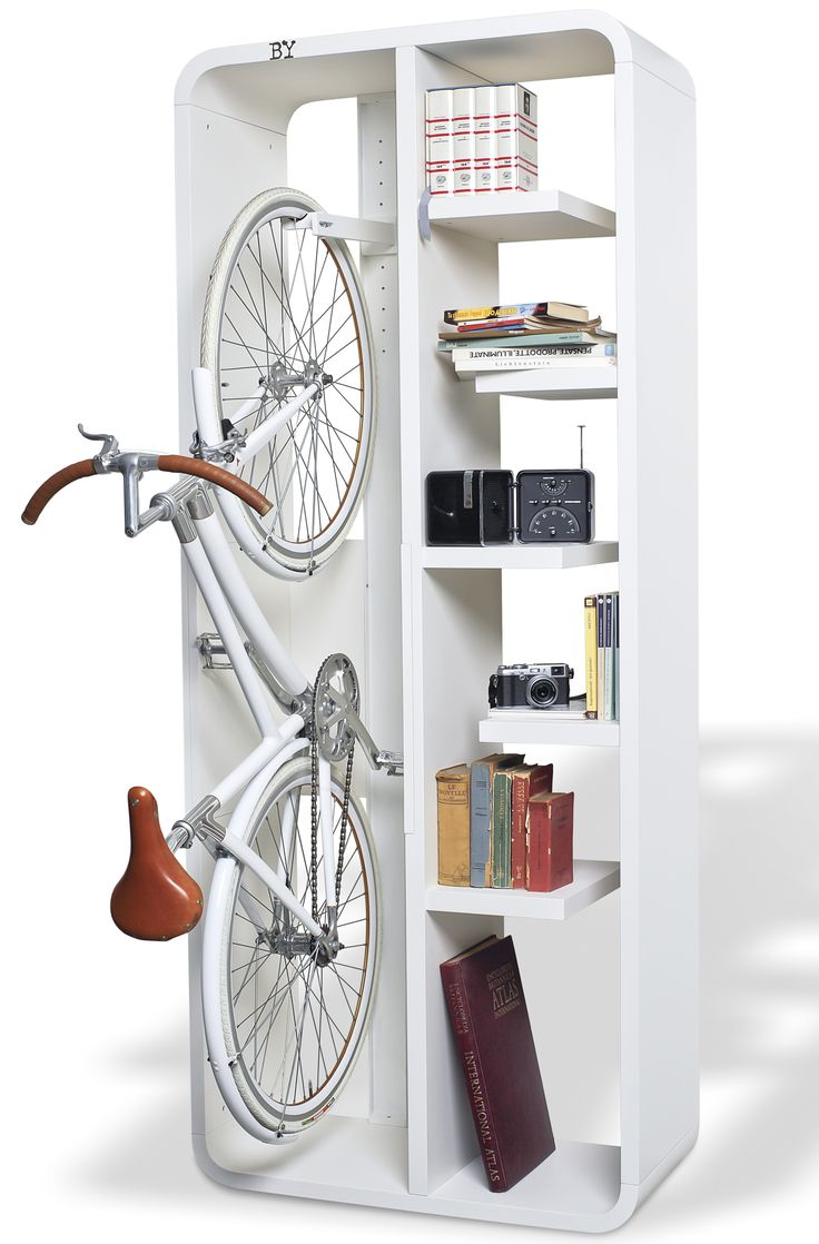 bike rack and bookcase