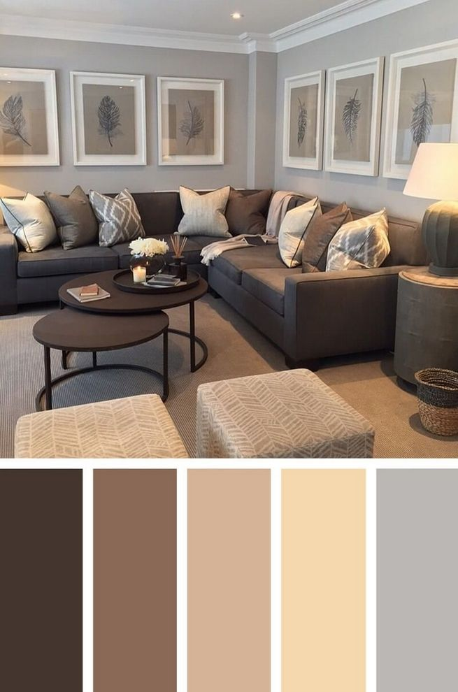 79 Most Popular Colour Scheme For Living Room With Dark Brown Sofa 15 Living Room Decor Brown Couch Grey And Brown Living Room Living Room Color Schemes