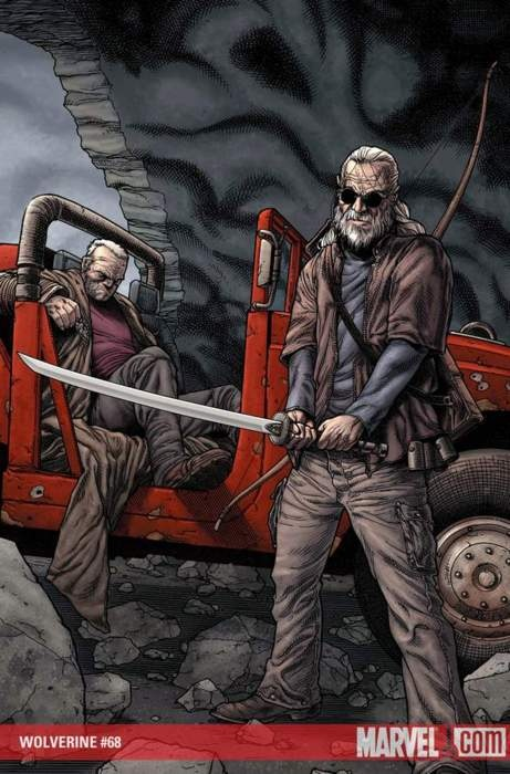 Old Man Logan and Hawkeye by Steve McNiven