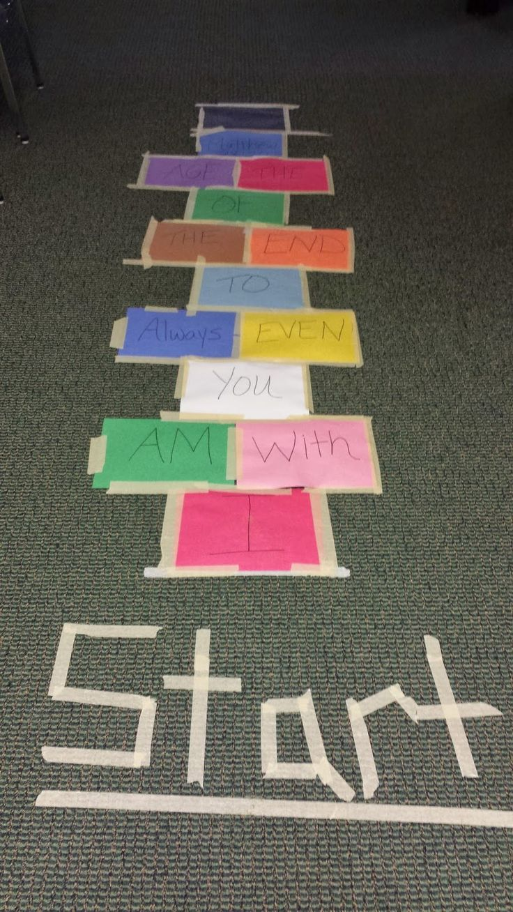 IDEAS UNLIMITED: Bible Verse Hopscotch