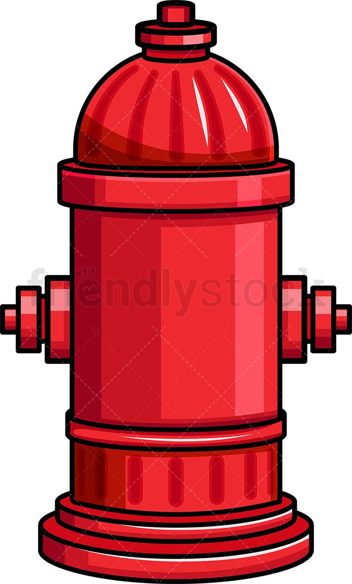 Red Fire Hydrant Icon Cartoon Vector Clipart Friendlystock Fire Hydrant Hydrant Red Fire
