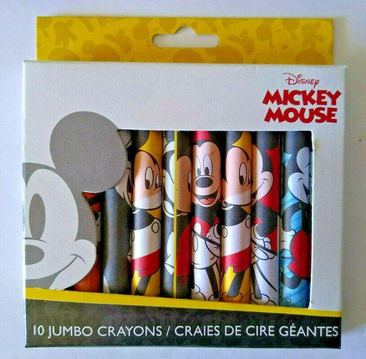 Disney mickey mouse jumbo crayons 10 pack disney in 2020