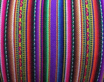 PERU FABRIC Lilac Striped Tribal by meter / Cheap fabric Peruvian art / Peru fabric  / textile cusco / Fabric outlet online / mexican fabric