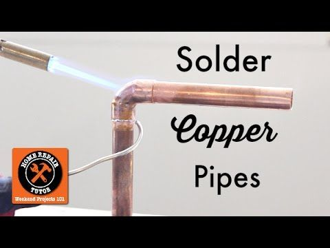Learn how to solder pipes in this step-by-step video tutorial. After 10 minutes you'll feel more confident about soldering and can save at least $95 learning these skills.