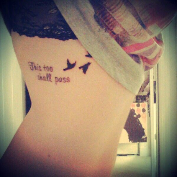 Tattoo Cursive Black Rip Birds Quote For Every: 39 Best Side Quote Tattoos For Women And Bird Images On