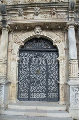 Main gate of the Peles castle, Sinaia, Romania