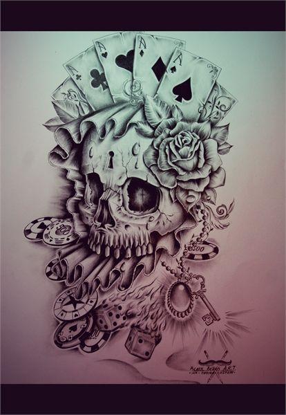 Vegas Skull by EdwardMiller.deviantart.com on @deviantART