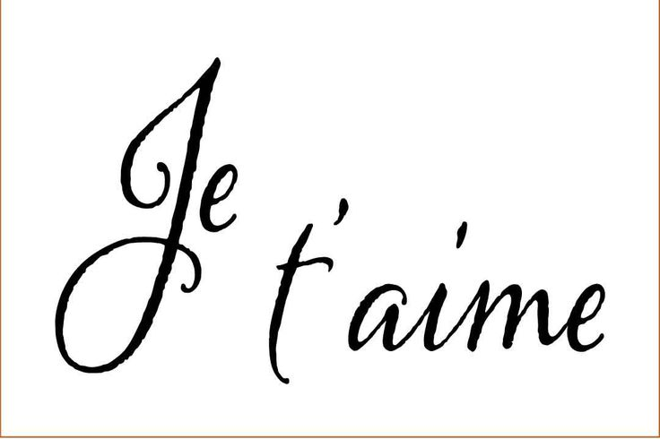 Je t'aime on 6x4 or 6x3 inch laser-cut stencil by PearlDesignStudio on Etsy