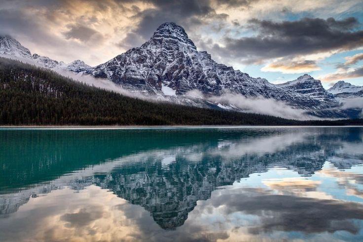 #Earth Chephren Sundown! Waterfowl Lakes, Banff National Park, Alberta. By Kirk Lougheed. [1600 X 1067]