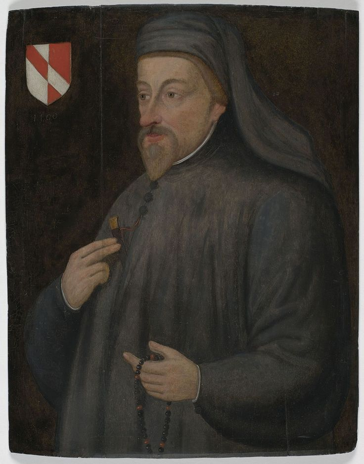 Geoffrey Chaucer: was the first important poet of his time to write English