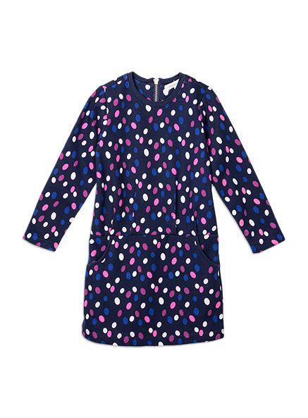 Pumpkin Patch - dresses - print sweatshirt dress - W5TG80036 - eclipse - 12-18m to 6