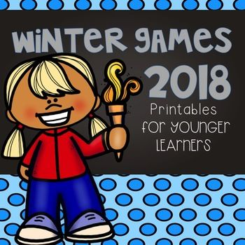 Winter Olympics 2018-- printables and activities for younger learners!