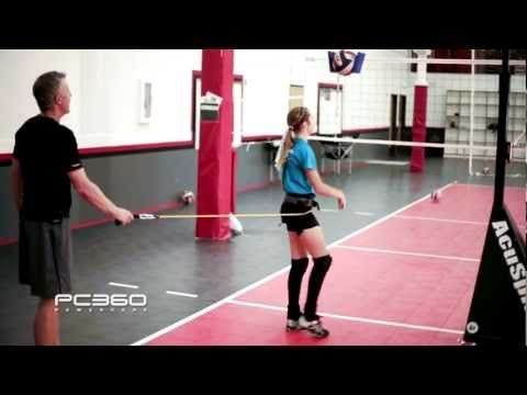 HIT that Volleyball HARDER by turning your hips and save your shoulder - here is a video on how