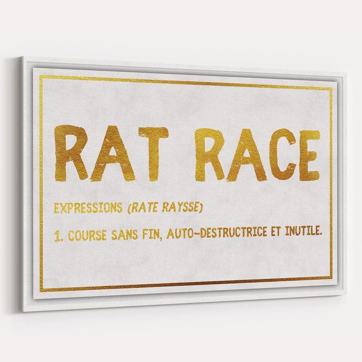 RAT RACE : Canvas design Roue infernale de la société  ART Design Canvas
