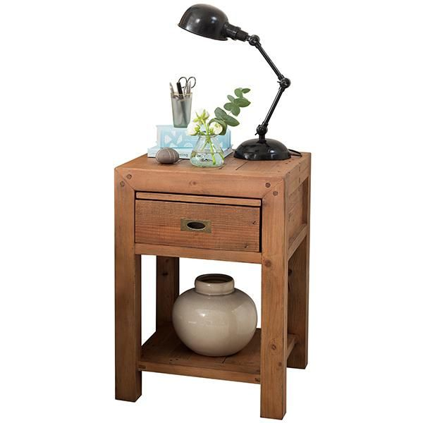 Winchester Reclaimed Wood Bedside Table Wooden Bedside Table Side Tables Bedroom Wooden Bedroom