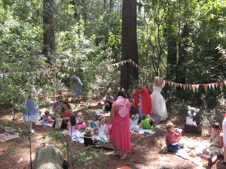 A picnic in the Enchanted Forest