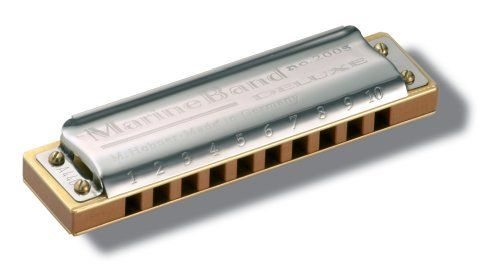 Hohner Marine Band Deluxe Harmonica, Key of G#/Ab by Hohner. $62.99. Marine Band Deluxe (#M2005) - For more than 100 years, the Marine Band has been the favorite harmonica of artists like Little Walter, Paul Butterfield, Sonny Terry, Sonny Boy Williamson II, Bob Dylan, Bruce Springsteen and countless others.  The new Marine Band Deluxe puts a contemporary spin on the Marine Band legacy.  Using its legendary, best-selling namesake as a starting point, the Marine Band Del...