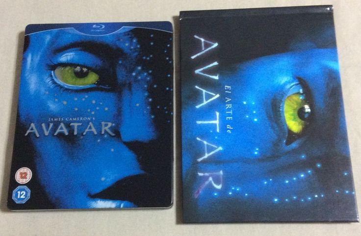 Avatar steelbook BD (UK) con acabado brillante y librito, incluye audio y subs en español latino.