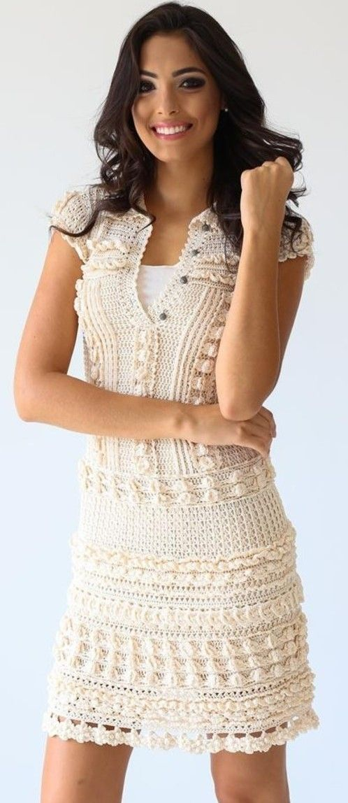 Vanessa Montoro crochet dress Más