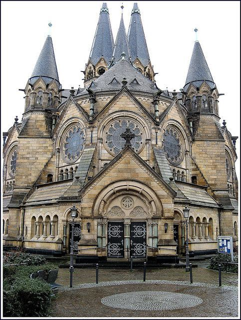 Ringkirche (Ring Church), Wiesbaden, Hesse, Germany, built 1892-1894, Romanesque Revival