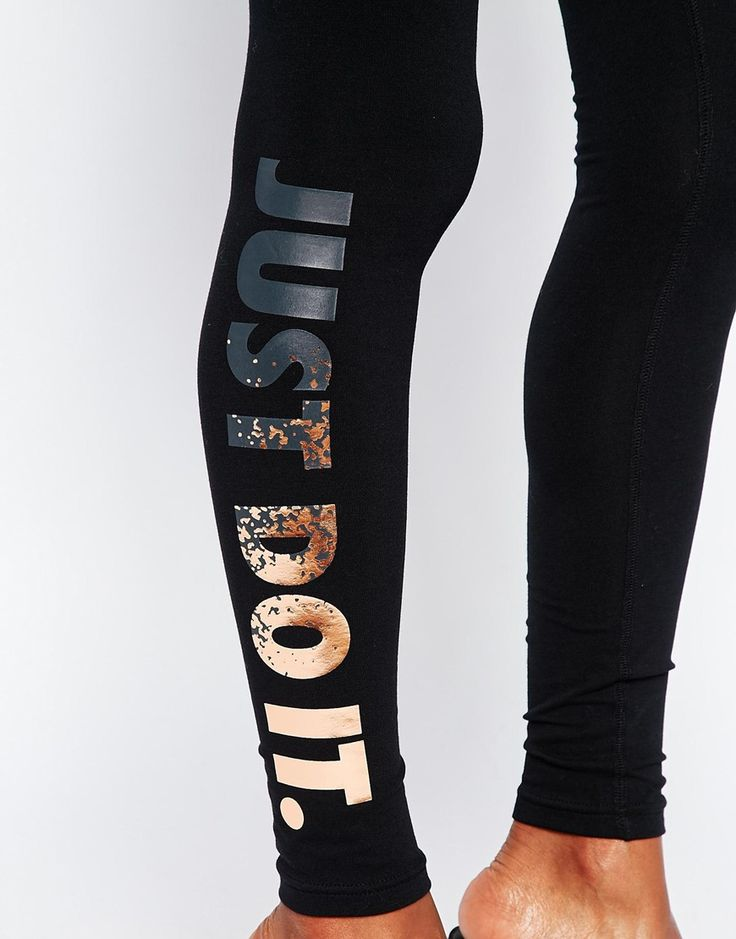 Image 3 of Nike Leg-A-See Just Do It Legging With Foil Logo