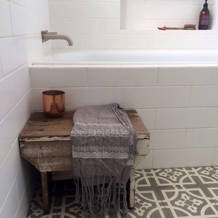 Bath time bliss. Warm tones ....