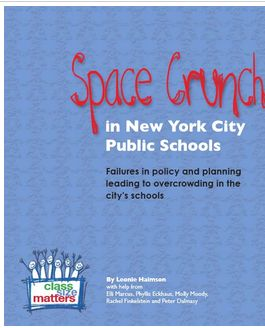 New report on crisis in NYC school overcrowding for Class Size Matters.