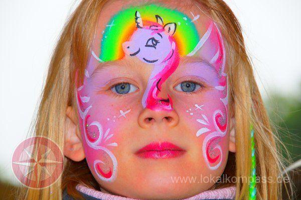 die besten 25 kinderschminken einhorn ideen auf pinterest pferd schminken gesicht. Black Bedroom Furniture Sets. Home Design Ideas