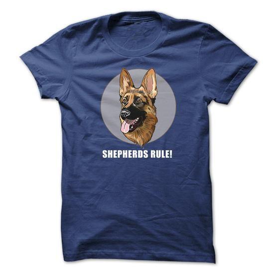 German Shepherds Rule! - #coworker gift #love gift. ADD TO CART => https://www.sunfrog.com/Pets/German-Shepherds-Rule-q6g2.html?68278