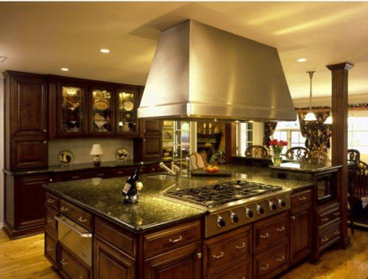 tuscan kitchen design. Gorgeous Wooden Cabinets facing Glossy Range Hood above Wide Oak Island for  Brilliant Tuscan Kitchen Design Best 25 kitchen design ideas on Pinterest Mediterranean