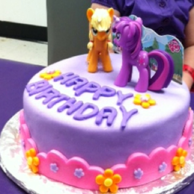 My little pony cake  I made for my niece