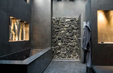 industrieel interieur badkamer