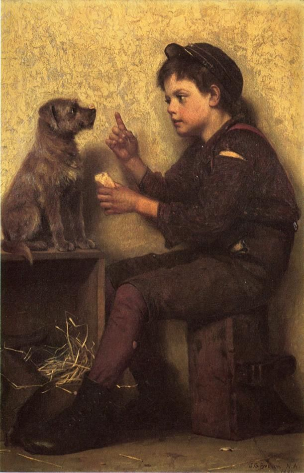 The Lesson by John George Brown